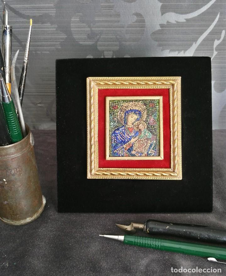 VIRGEN CON EL NIÑO. MINIATURA (Arte - Arte Religioso - Iconos)