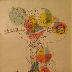 Arte: SALVADOR AULESTIA. LITOGRAFIA FIRMADA A MANO, DATADA EN 1975 Y TITULADA. Lote 132717118