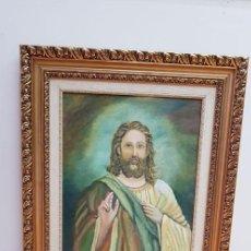Arte: GRAN PINTURA OLEO JESUS FIRMADO. Lote 132749910