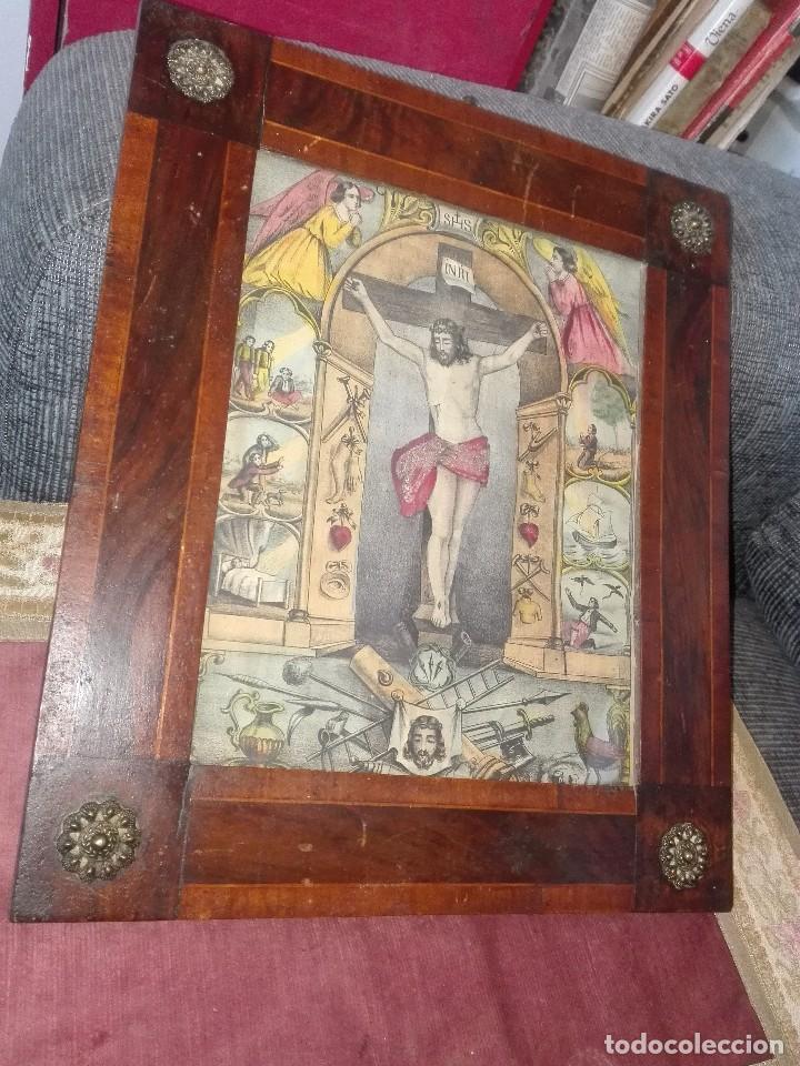 LÁMINA COLOREADA ORIGINAL SIGLO XIX. (Arte - Arte Religioso - Pintura Religiosa - Otros)