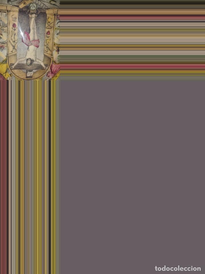 Arte: Lámina coloreada original siglo XIX. - Foto 2 - 132805430