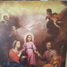 Arte: MURILLO, LAS DOS TRINIDADES, COPIA FIRMADA SUAREZ, 92X74 CM, SIN MARCO. Lote 132810626
