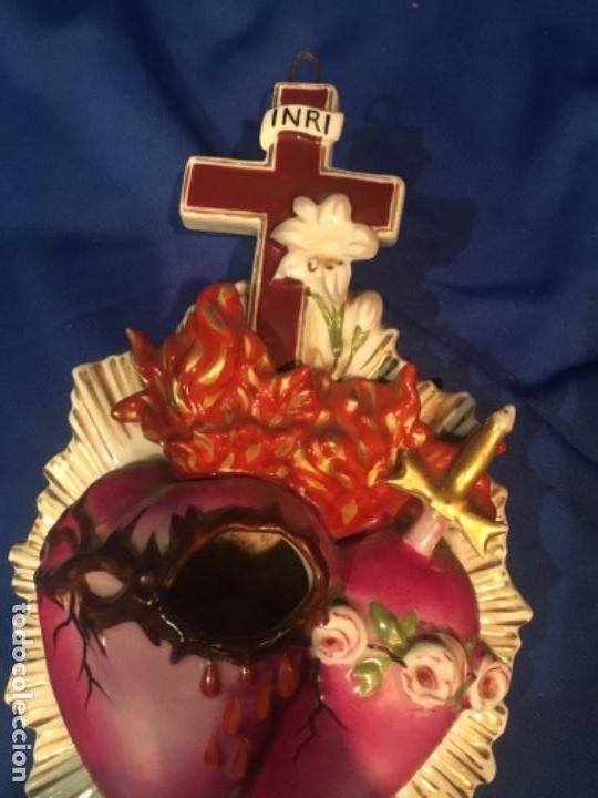 Arte: Antigua benditera de porcelana limoges S XIX - Foto 3 - 132819614