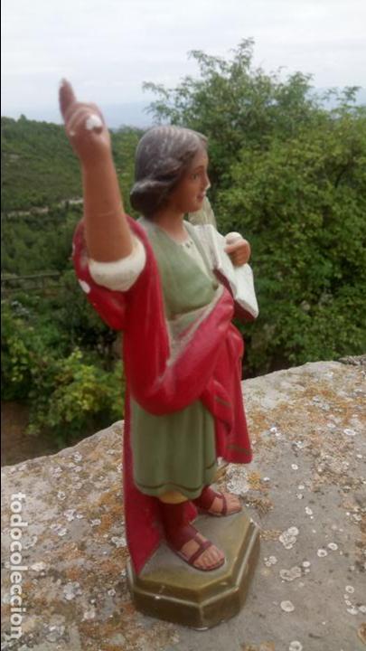 Arte: Antigua escultura de yeso de San Pancracio. Religiosa - Foto 2 - 132905966