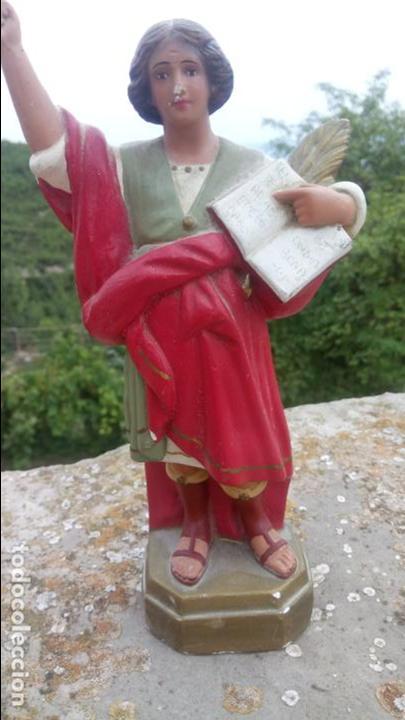 Arte: Antigua escultura de yeso de San Pancracio. Religiosa - Foto 4 - 132905966