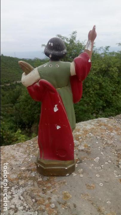 Arte: Antigua escultura de yeso de San Pancracio. Religiosa - Foto 5 - 132905966