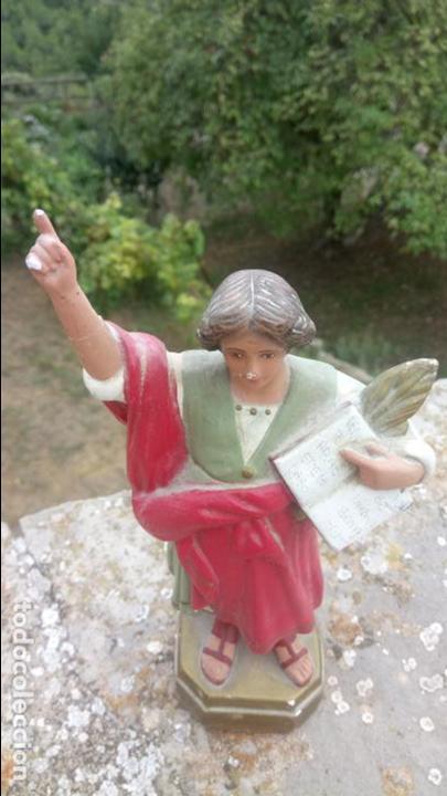 Arte: Antigua escultura de yeso de San Pancracio. Religiosa - Foto 6 - 132905966