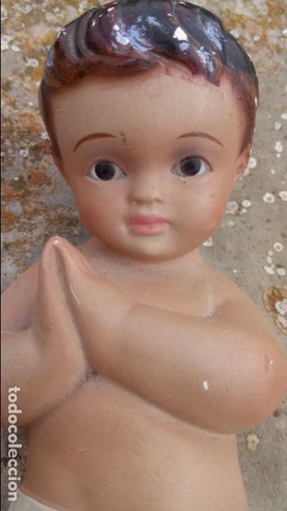Arte: Antiguo niño Jesus de escayola o yeso - Foto 2 - 132906642