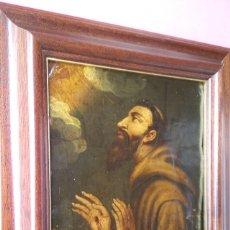 Arte: PINTURA RELIGIOSA SIGLO XVIIIOLEO SOBRE COBRE,SAN FRANCISCO DE ASIS,ESTIGMAS MANOS Y COSTADO,MISTICA. Lote 132778122