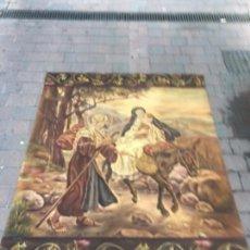 Arte: TAPIZ PINTADO A MANO AL ÓLEO HUIDA DE EGIPTO . Lote 132910646