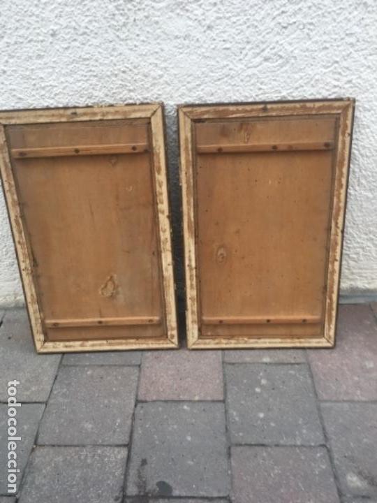 Arte: Dos cuadros religiosos pirograbado sobre madera - Foto 4 - 132917022