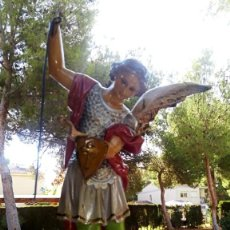 Arte: ARCANGEL SAN MIGUEL. REALIZADO EN PASTA DE MADERA. POSIBLEMENTE DE OLOT. FINALES DEL SIGLO XIX. S. Lote 132980366