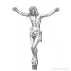 Arte: CRISTO BRONCE DE 37 CM. COLOR CROMO. Lote 133008266