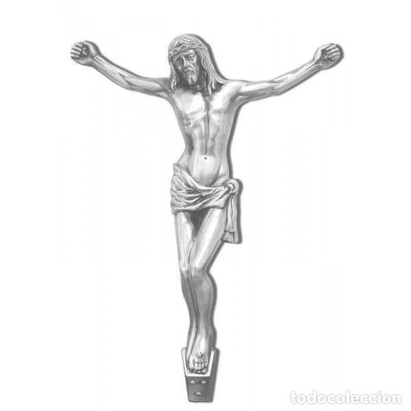 CRISTO BRONCE DE 29 CM. COLOR CROMO (Arte - Arte Religioso - Escultura)