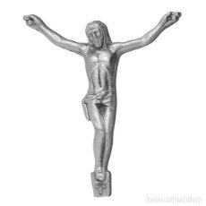 Arte: CRISTO BRONCE DE 17 CM. COLOR CROMO. Lote 133009134