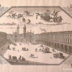 Arte: ROMEYN DE HOOGHE. LITOGRAFIA PLATEA REGIA AVG. TAVR (SIN COLOREAR). 50X72 CM. EN BUEN ESTADO.. Lote 133033562