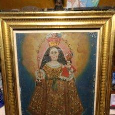 Arte: REBAJADO!!. ANTIGUA VIRGEN CRIOLLA O CUZQUEÑA, S-XVIII, OLEO SOBRE CINC.. Lote 133048911