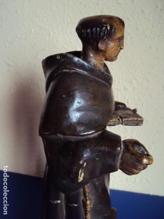 Arte: (ANT-180924) TALLA MADERA POLICROMADA SIGLO XVIII - SAN ANTONIO DE PADUA - Foto 15 - 133139962
