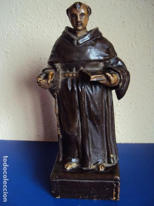 (ANT-180924) TALLA MADERA POLICROMADA SIGLO XVIII - SAN ANTONIO DE PADUA (Arte - Arte Religioso - Escultura)
