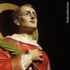 Arte: MISTICO SAN LORENZO MARTIR PARA ALTAR MAYOR PROCESIONAL GRANDES DIMENSIONES. Lote 133189950