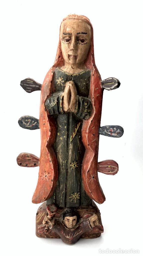 TALLA DE UNA VIRGEN DE ESTILO NAIF - FILIPINAS - S. XIX (Arte - Arte Religioso - Escultura)