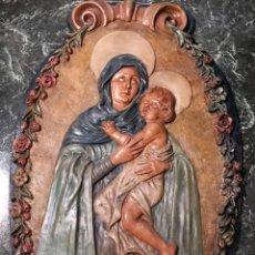 Arte: VÍRGEN CON NIÑO POR INDALECIO DÍAZ BALIÑO (EL FERROL, LA CORUÑA 1896-1952), FECHADA EN 1927. Lote 55386882