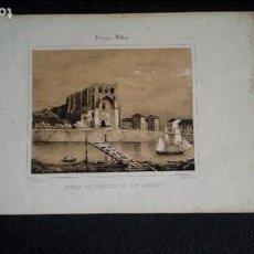 Arte: LITOGRAFÍA DE BILBAO. RUINAS DEL CONVENTO DE SAN AGUSTÍN. LÁMINAS DE GUIPUZCOA Y PAIS VASCO.. Lote 133324058