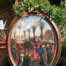 Arte: JESUCRISTO ENTRANDO EN JERUSALÉN . ÓLEO SOBRE LIENZO 106 X 81 CM . Lote 133393186