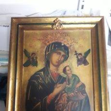 Arte: CUADRO IMITACION A ANTIGUO CON PAN DE ORO Y LAMINA ENVEJECIDA.. Lote 133476634