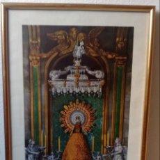 Arte: LÁMINA VIRGEN DEL PILAR ÚNICA ESTAMPA OFICIAL DEL CAMARIN DE LA VIRGEN 1940. Lote 133497683