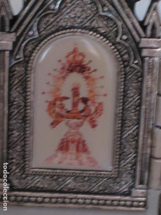 Arte: Capilla metálica tríptico virgen de la fuente. - Foto 3 - 133540582