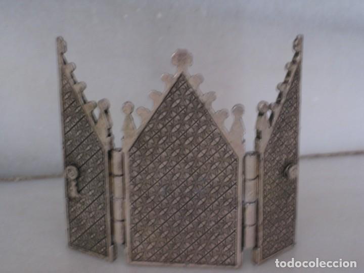 Arte: Capilla metálica tríptico virgen de la fuente. - Foto 6 - 133540582