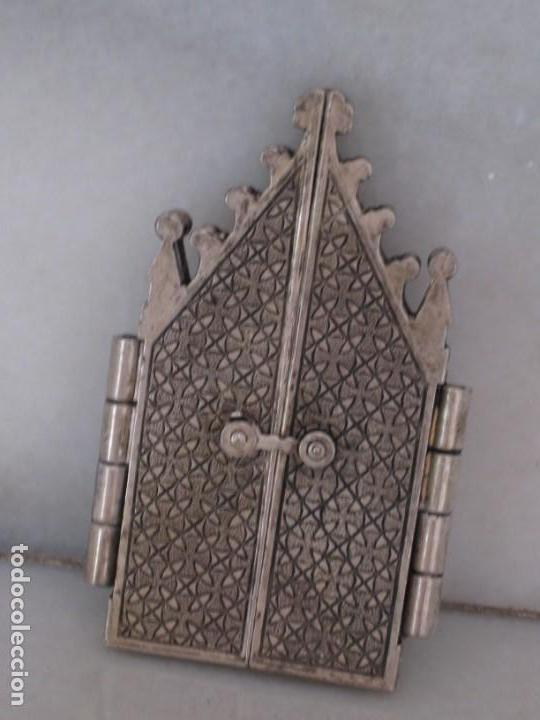 Arte: Capilla metálica tríptico virgen de la fuente. - Foto 7 - 133540582