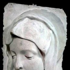 Arte: ESPECTACULAR ESCULTURA DE ESCAYOLA DE LA VIRGEN MARÍA. ESCULTOR NAVARRETE, FIRMADA. 38X26X14CM. Lote 121323999