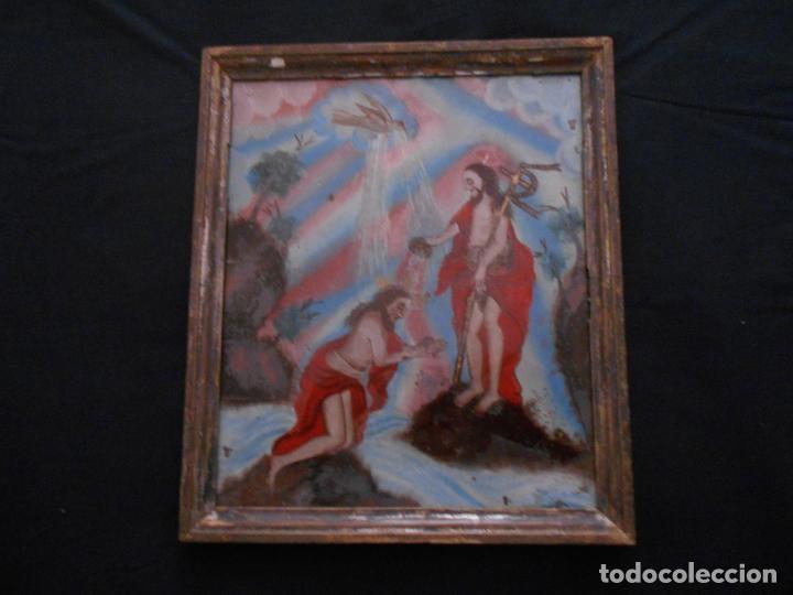 cuadro religioso pintado en un cristal, mide 32 - Comprar en ...