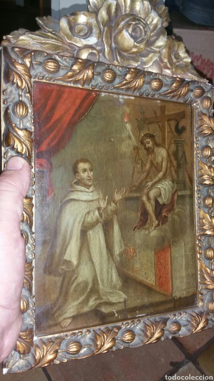 ÓLEO SOBRE TABLA DE SAN BERNARDO FINALES DEL 17 PRINCIPIOS DEL SIGLO 18 (Arte - Arte Religioso - Pintura Religiosa - Oleo)
