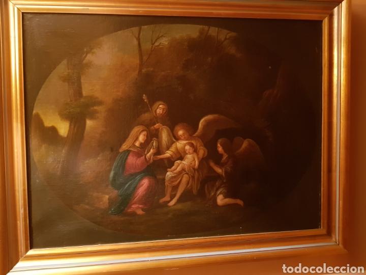 OLEO EN LIENZO SIGLO XIX (Arte - Arte Religioso - Pintura Religiosa - Oleo)