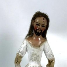 Arte: JESÚS. TALLA DE MADERA POLICROMADA. HISPANOAMÉRICA. SIGLO XIX. . Lote 133791310