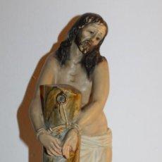 Arte: CRISTO EN LA COLUMNA - ESTUCO POLICROMADO - PRINCIPIOS DEL SIGLO XX. Lote 133838462