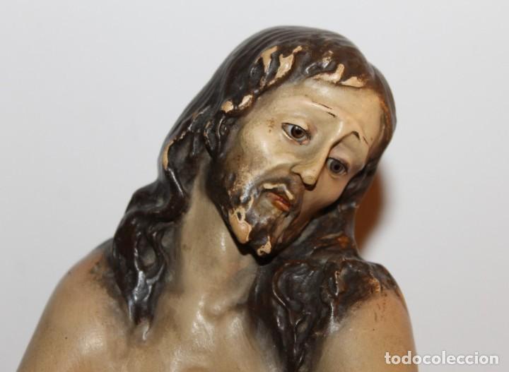Arte: CRISTO EN LA COLUMNA - ESTUCO POLICROMADO - PRINCIPIOS DEL SIGLO XX - Foto 2 - 133838462