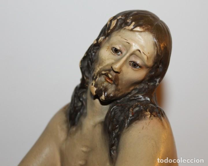 Arte: CRISTO EN LA COLUMNA - ESTUCO POLICROMADO - PRINCIPIOS DEL SIGLO XX - Foto 3 - 133838462