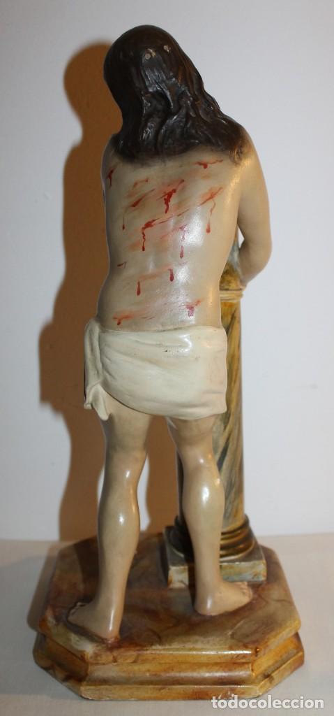 Arte: CRISTO EN LA COLUMNA - ESTUCO POLICROMADO - PRINCIPIOS DEL SIGLO XX - Foto 9 - 133838462