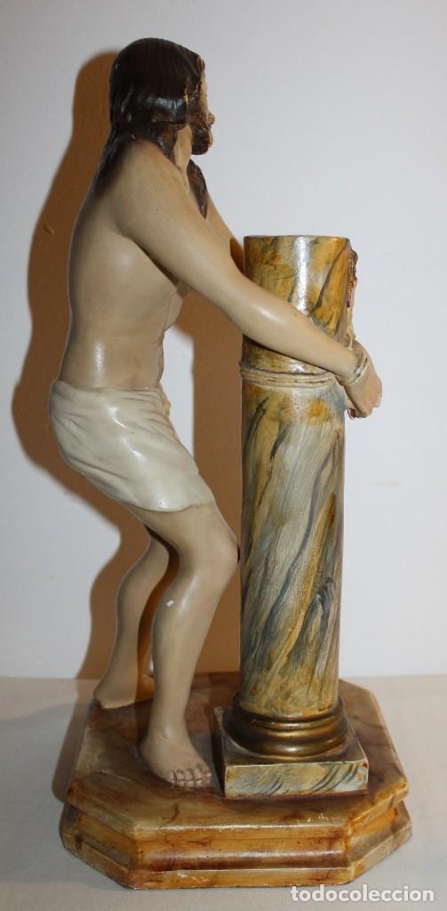 Arte: CRISTO EN LA COLUMNA - ESTUCO POLICROMADO - PRINCIPIOS DEL SIGLO XX - Foto 11 - 133838462