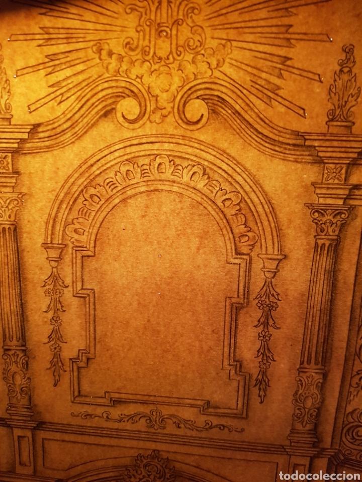 Arte: Jose CASANOVA Pinter?, Antiguo dibujo para retablo de iglesia, Valencia o provincia. 65x43cm - Foto 16 - 133852246