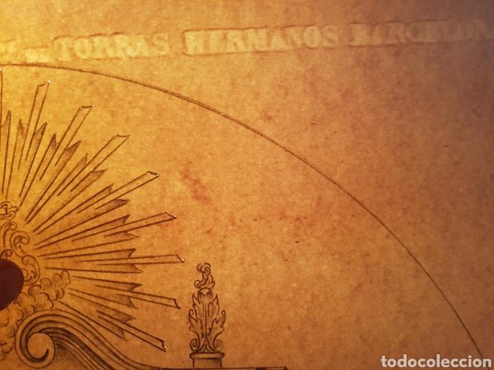 Arte: Jose CASANOVA Pinter?, Antiguo dibujo para retablo de iglesia, Valencia o provincia. 65x43cm - Foto 17 - 133852246