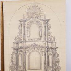 Arte: JOSE CASANOVA PINTER?, ANTIGUO DIBUJO PARA RETABLO DE IGLESIA, VALENCIA O PROVINCIA. 65X43CM. Lote 133852246