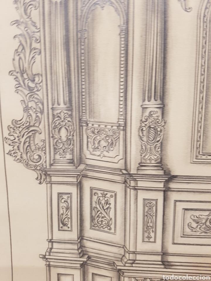 Arte: Jose CASANOVA Pinter?, Antiguo dibujo para retablo de iglesia, Valencia o provincia. 65x43cm - Foto 10 - 133852246