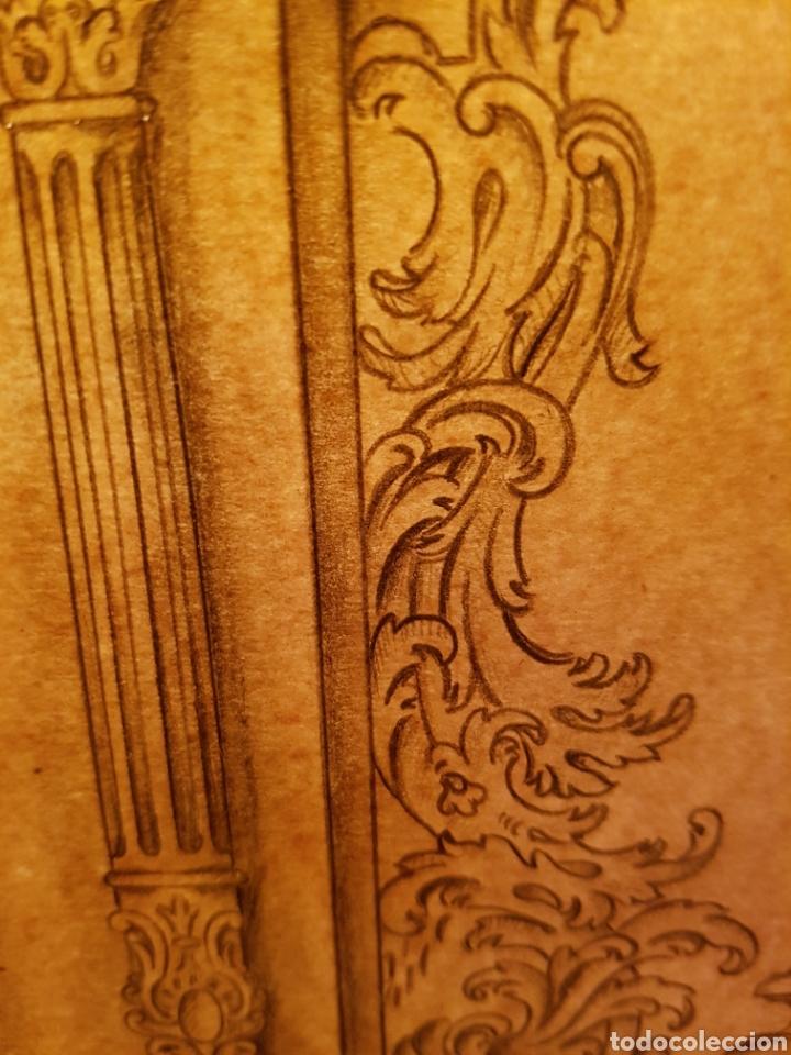 Arte: Jose CASANOVA Pinter?, Antiguo dibujo para retablo de iglesia, Valencia o provincia. 65x43cm - Foto 15 - 133852246