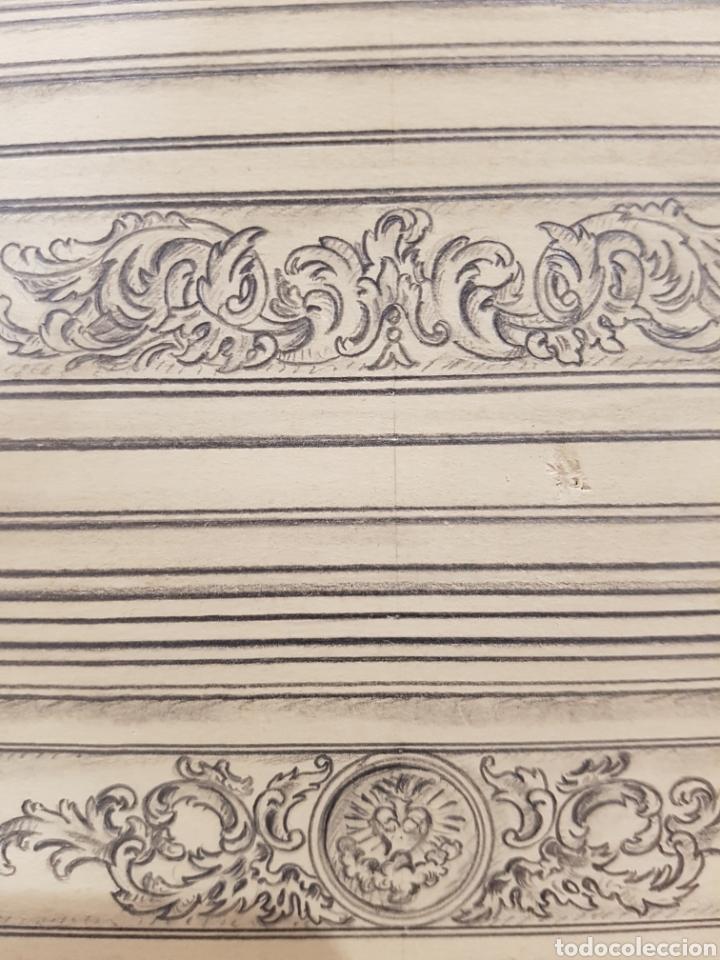 Arte: Jose CASANOVA Pinter?, Antiguo dibujo para retablo de iglesia, Valencia o provincia. 65x43cm - Foto 8 - 133852246