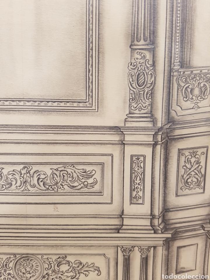 Arte: Jose CASANOVA Pinter?, Antiguo dibujo para retablo de iglesia, Valencia o provincia. 65x43cm - Foto 13 - 133852246